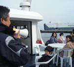 猿島航路を企画運営しているトライアングルの鈴木さんのお話。